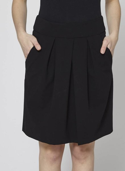 DKNY BLACK WOOL SKIRT