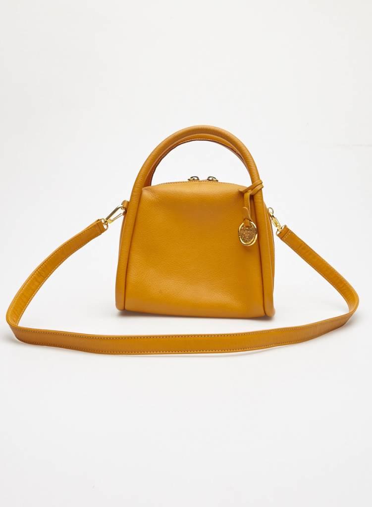 Sonia Rykiel Small Ochre Leather Bag