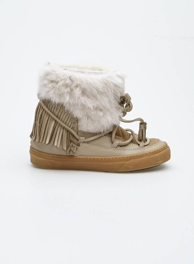 Inuikii Solde - Bottes d'hiver en cuir et fourrure