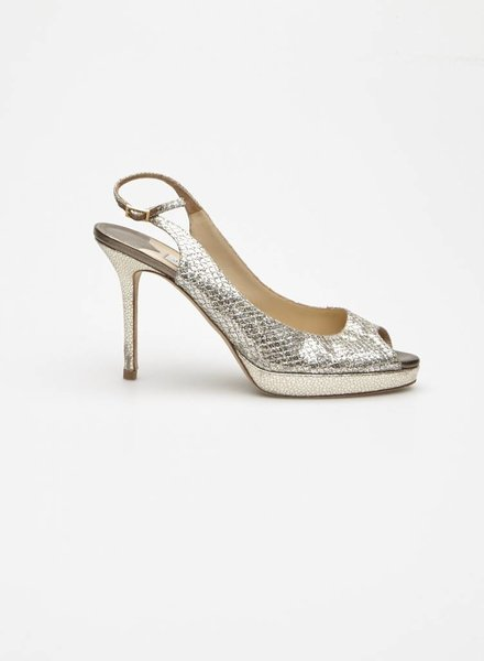 Jimmy Choo SILVER SEQUIN PUMPS