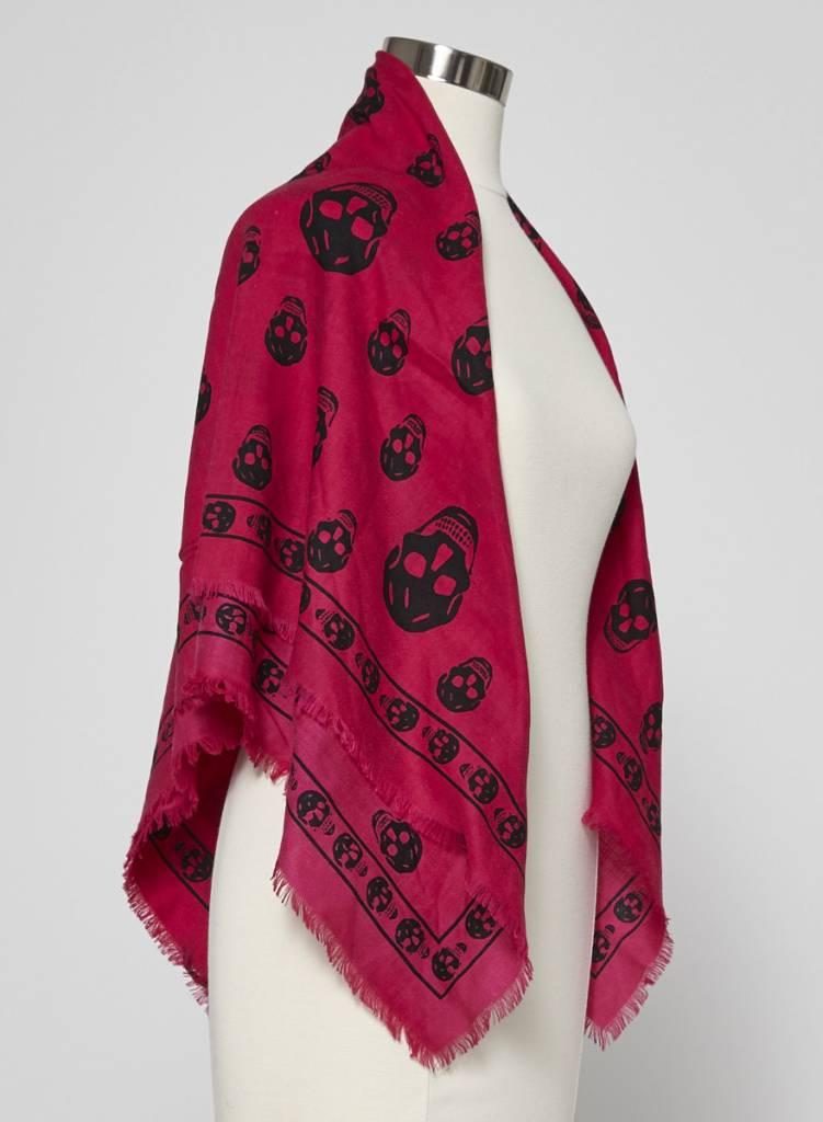 Alexander McQueen Foulard rose en laine, soie et cachemire