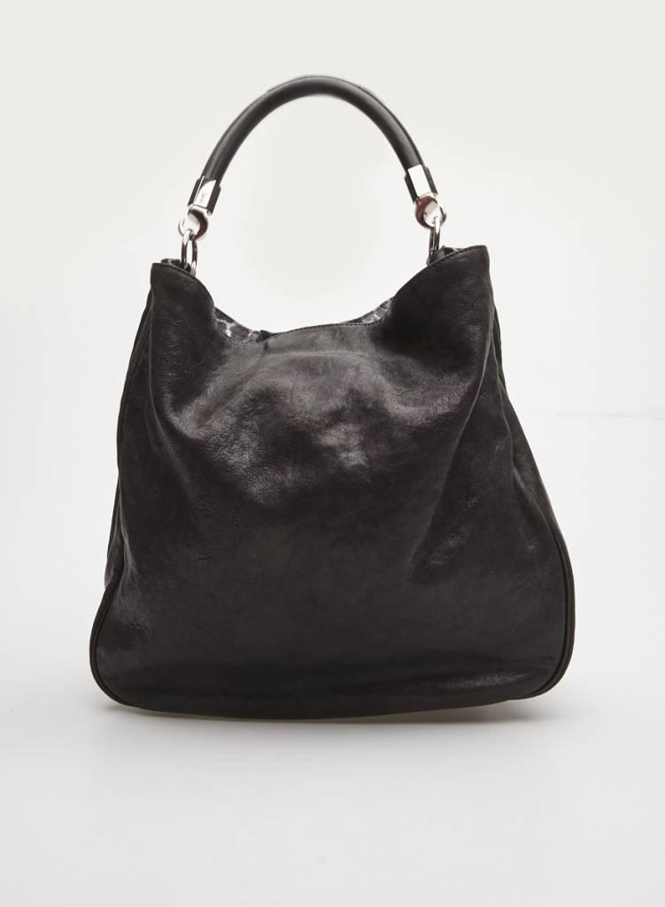 e5fed40fac2e Black Leather Tote Bag - Yves Saint Laurent - DEUXIEME EDITION