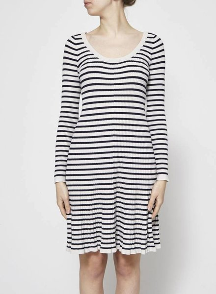 Rebecca Taylor STRIPED KNITTED DRESS