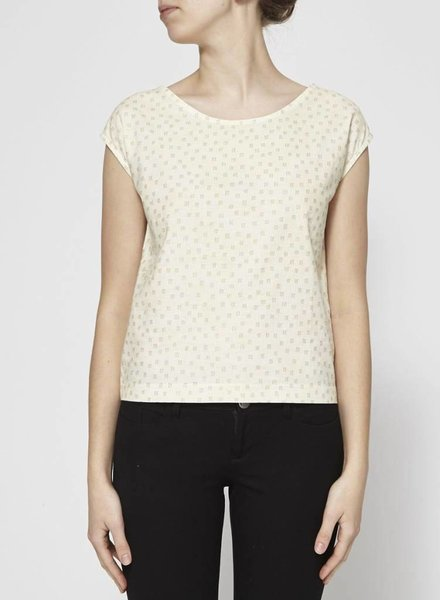 Josiane Perron COTTON TOP WITH GOLD MOTIFS