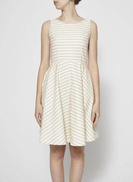 Amanda Moss STRIPED COTTON DRESS