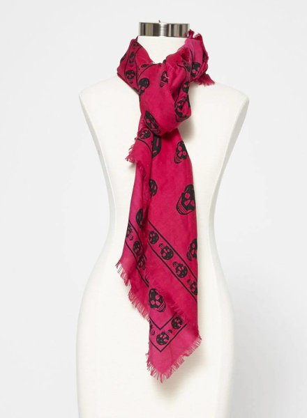 Alexander McQueen PINK WOOL, SILK AND CASHMERE SCARF