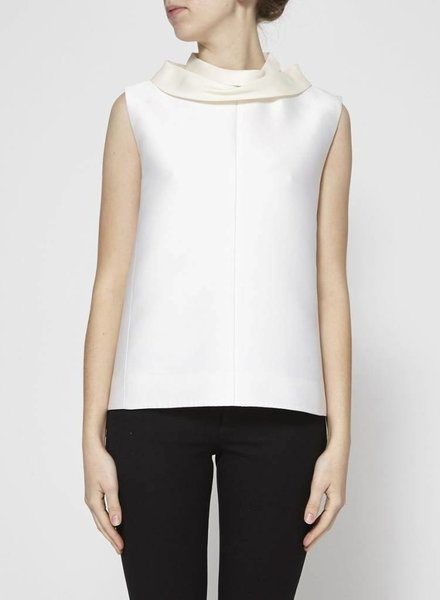 Céline CREAM COWL NECK TOP