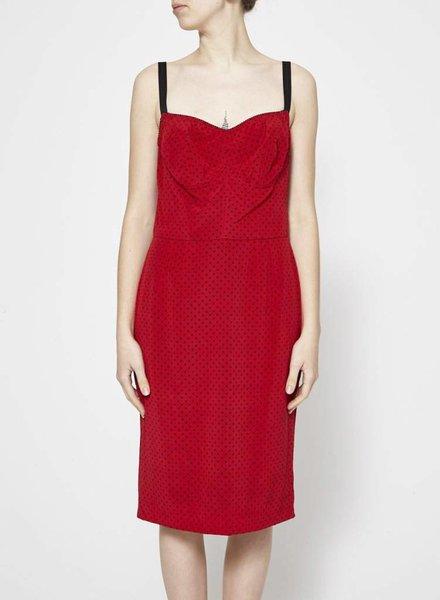 Dolce & Gabbana POLKA-DOT CORSET-STYLE DRESS (SIZE 8)