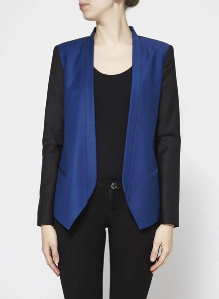 Tibi BLACK AND NAVY BLAZER