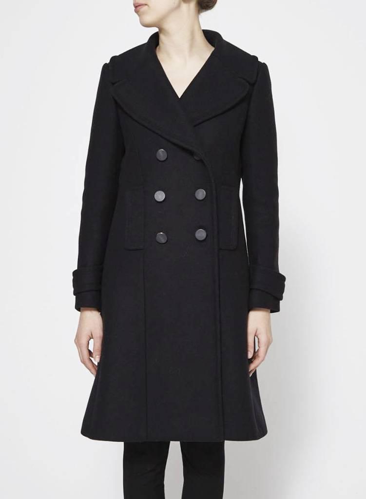 adc978ca3e Double-Breasted Black Coat - TARA JARMON - DEUXIEME EDITION