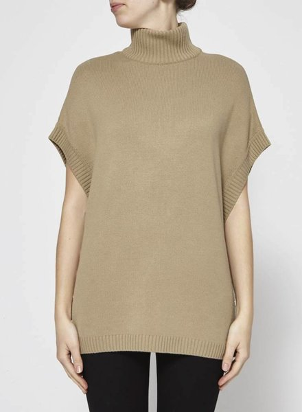 Givenchy BEIGE WOOL AND CASHMERE SWEATER WITH GOLDEN BUTTONS