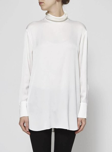 DKNY LONG PEARLY SILK BLOUSE