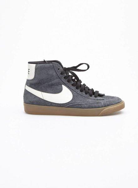 Nike BLUE-GREY SUEDE HIGH-TOP ESPADRILLES