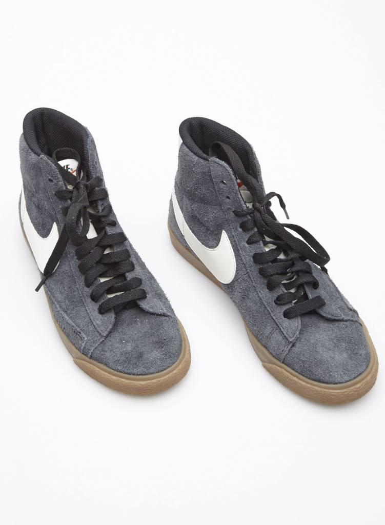 Nike Espadrilles high-top en suède bleu-gris