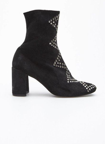 Jeffrey Campbell BLACK FAUX SUEDE BOOTS WITH STUDS