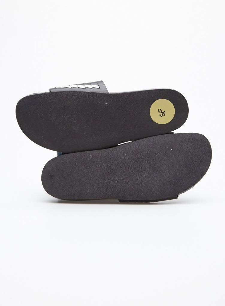 Thakoon Addition Sandales en cuir à bandes noir et blanc