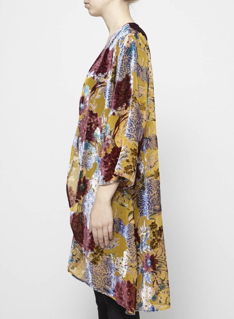 Floreat Kimono léger fleurs en velours