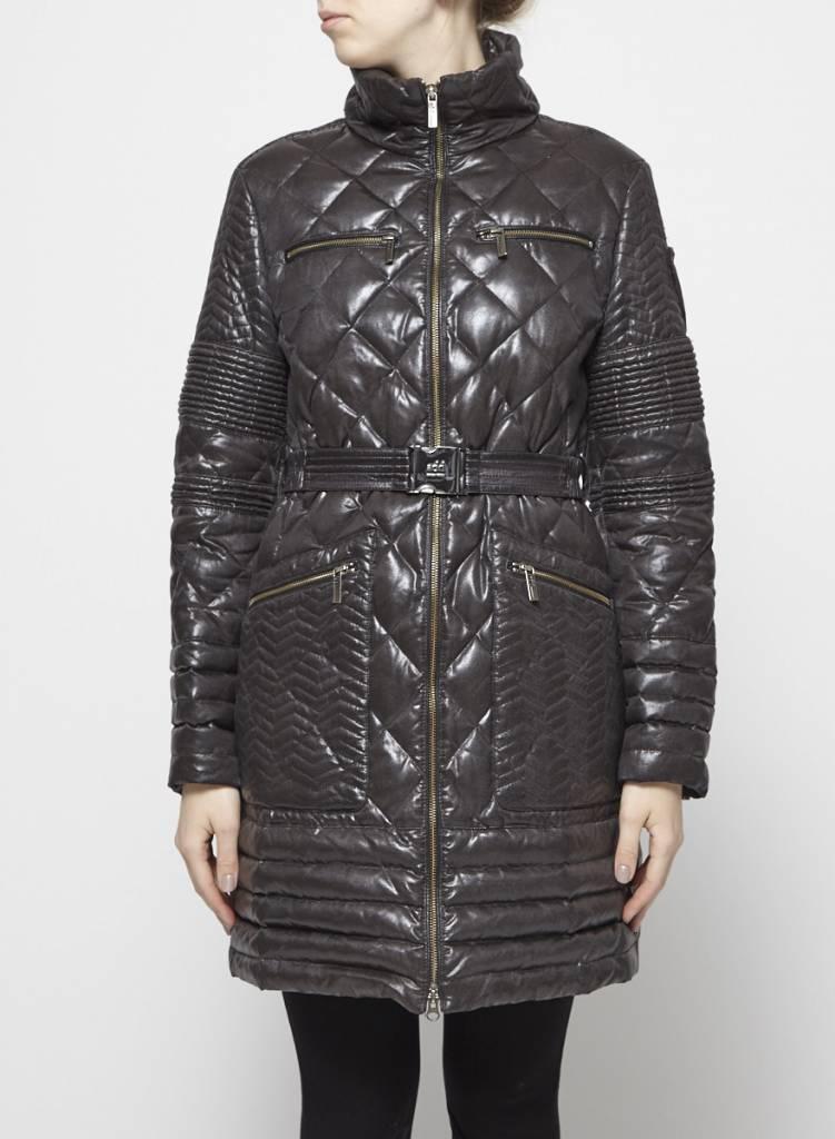 Add Manteau gris-noir matelassé en duvet