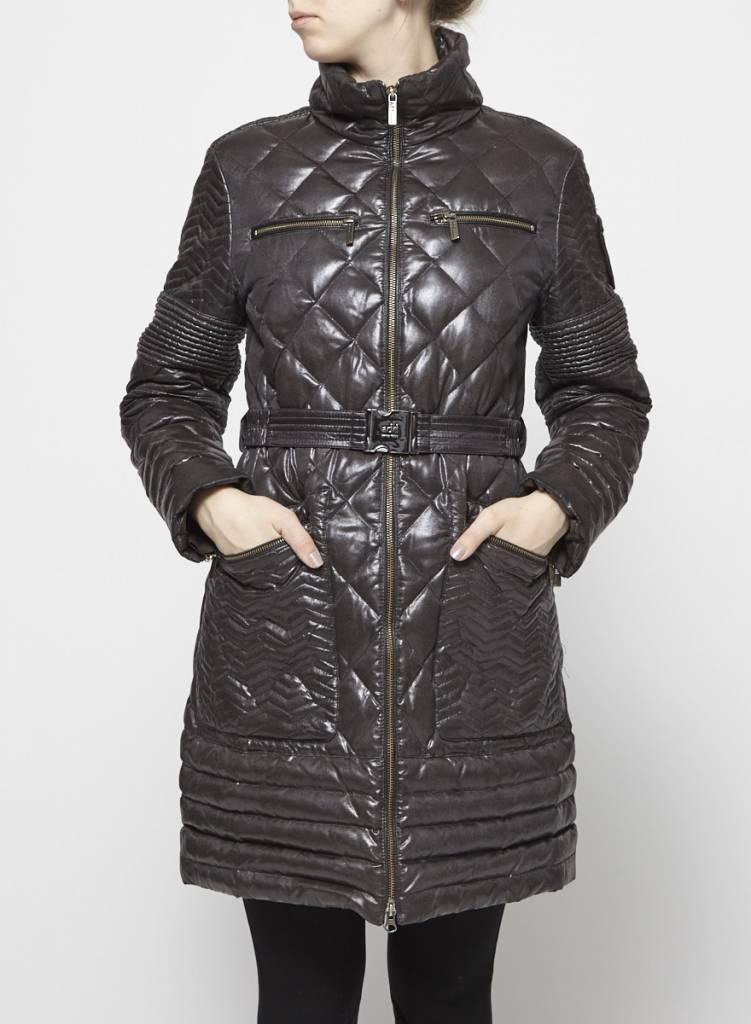 Add Solde - Manteau gris-noir matelassé en duvet
