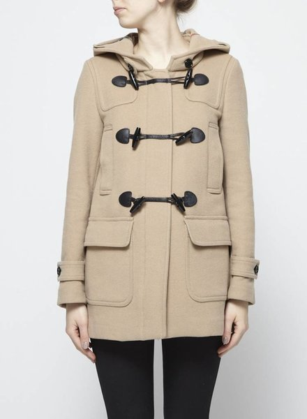 Burberry Brit DUFFLE BEIGE WOOL COAT