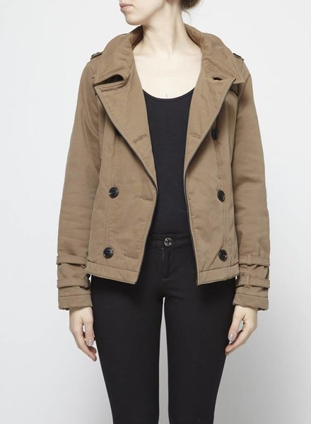 Comptoir des cotonniers DOUBLE-BREASTED CANVAS COAT