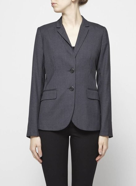 J.Crew GREY WOOL BLAZER WITH FINE STRIPES