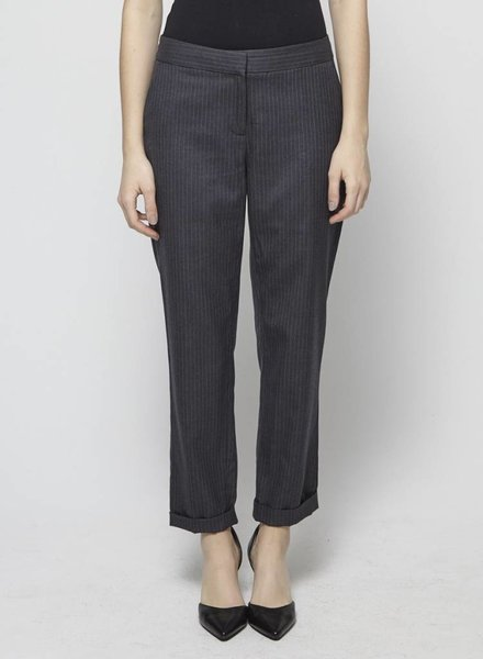 J.Crew STRIPED WOOL STRAIGHT-LEG PANTS