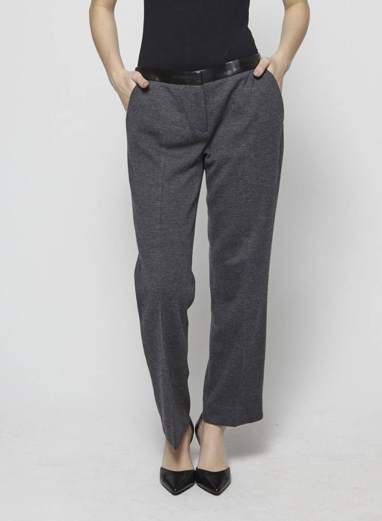 Tory Burch Pantalon gris avec laine - TORY BURCH - MOYEN