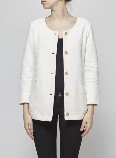 Les petits hauts WHITE QUILTED JACKET