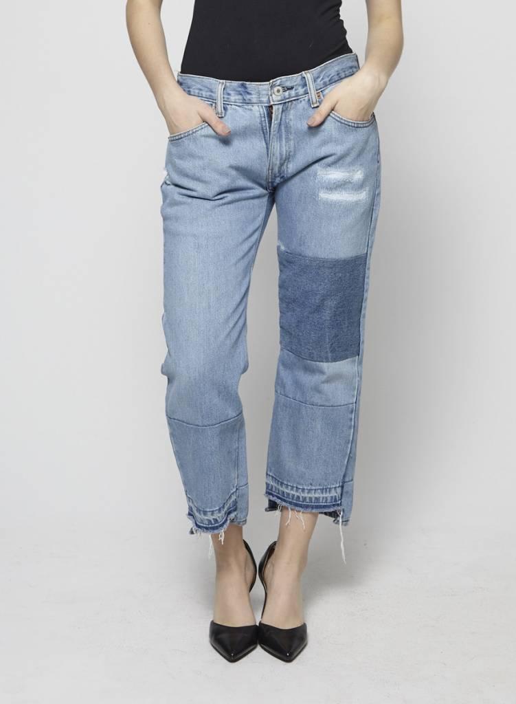 Nili Lotan Jeans bleu pâle effet déconstruit