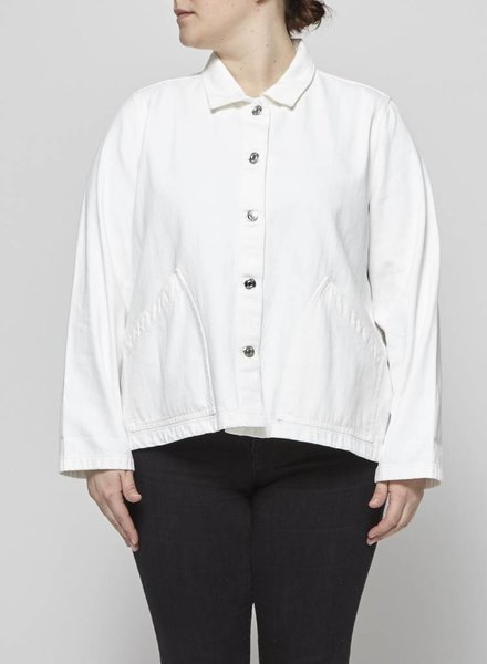 J.Crew WHITE DENIM JACKET WITH POCKETS
