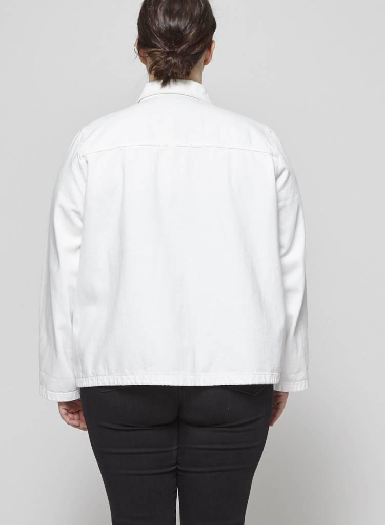 J.Crew Veste en jeans blanche à poches