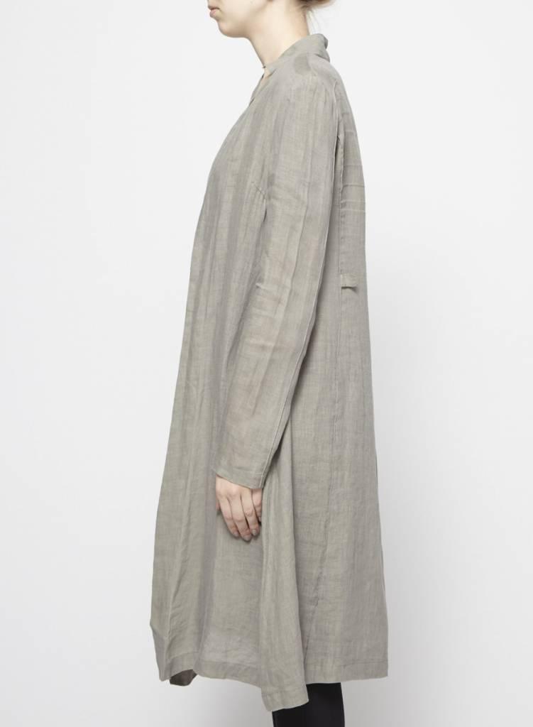 Sarah Pacini Veste légère asymétrique taupe en lin