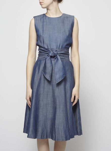 Éditions de Robes CHAMBRAY DRESS WITH REMOVABLE BELT