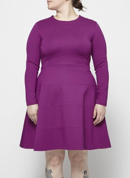 Éditions de Robes LONG SLEEVE FUCHSIA DRESS