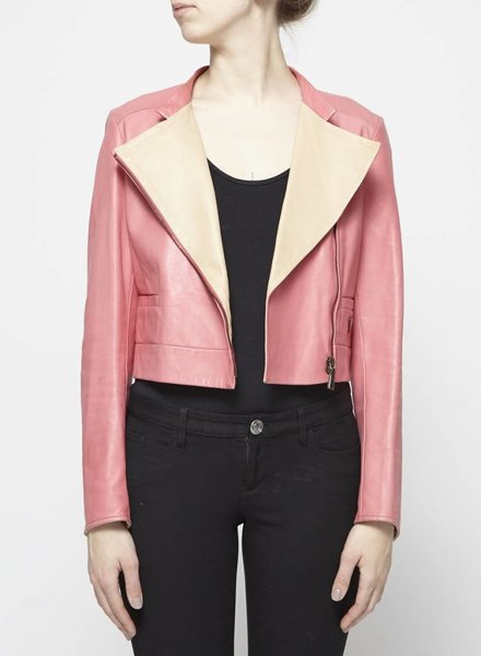 Prada PINK LEATHER JACKET