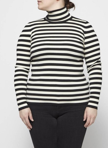 Gucci CASHMERE, SILK AND WOOL STRIPED TURTLENECK