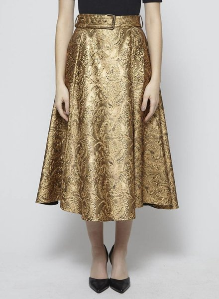 Lanvin GOLDEN BROCADE SKIRT