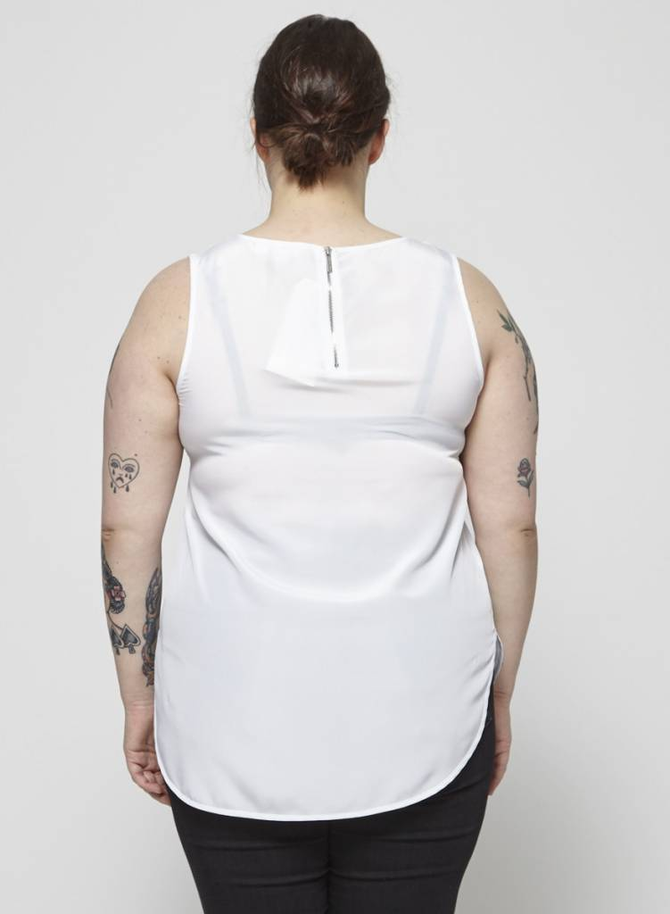 Michael Kors Haut blanc en tissu soyeux