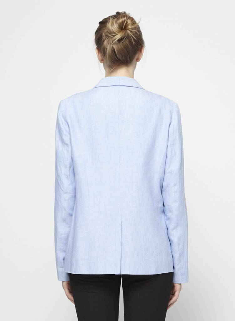Joie Veston en lin bleu-lavande