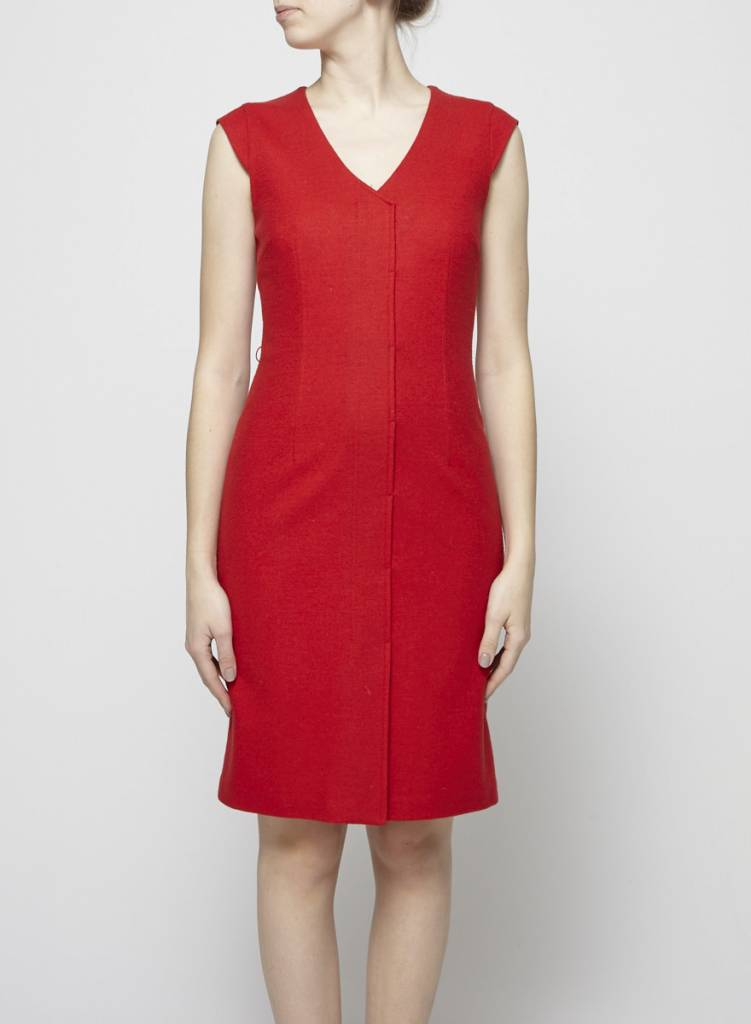 Teenflo RED WOOL DRESS