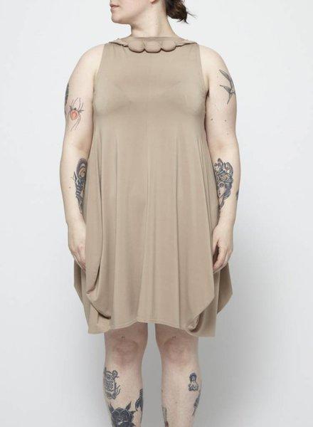 Marie Saint Pierre ON SALE - TAN DRESS WITH NECKLACE
