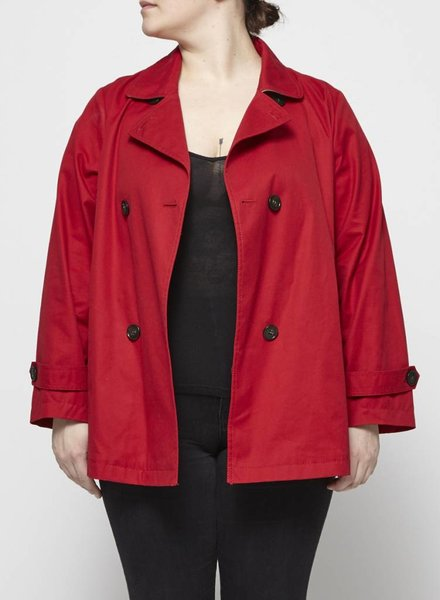 Marina Sport RED SHORT TRENCH COAT