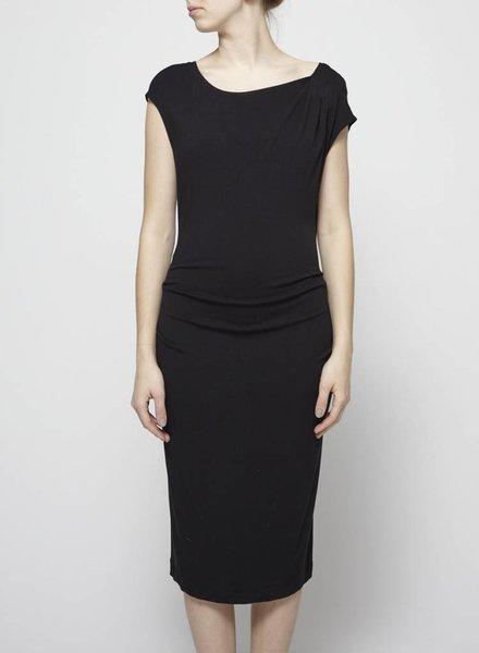 Donna Karan BLACK DRAPED DRESS