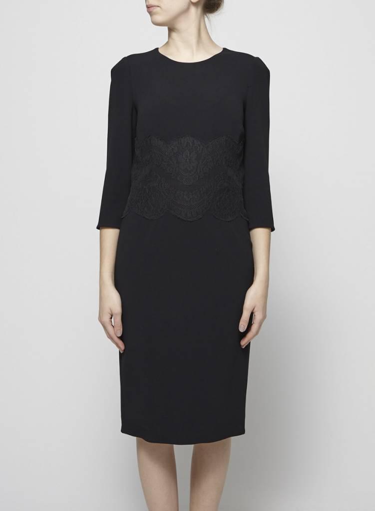 Dolce & Gabbana Robe noire taille en dentelle