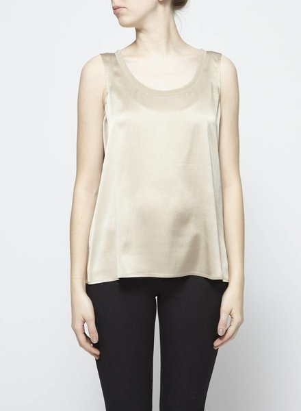 Eileen Fisher BEIGE SILK TOP