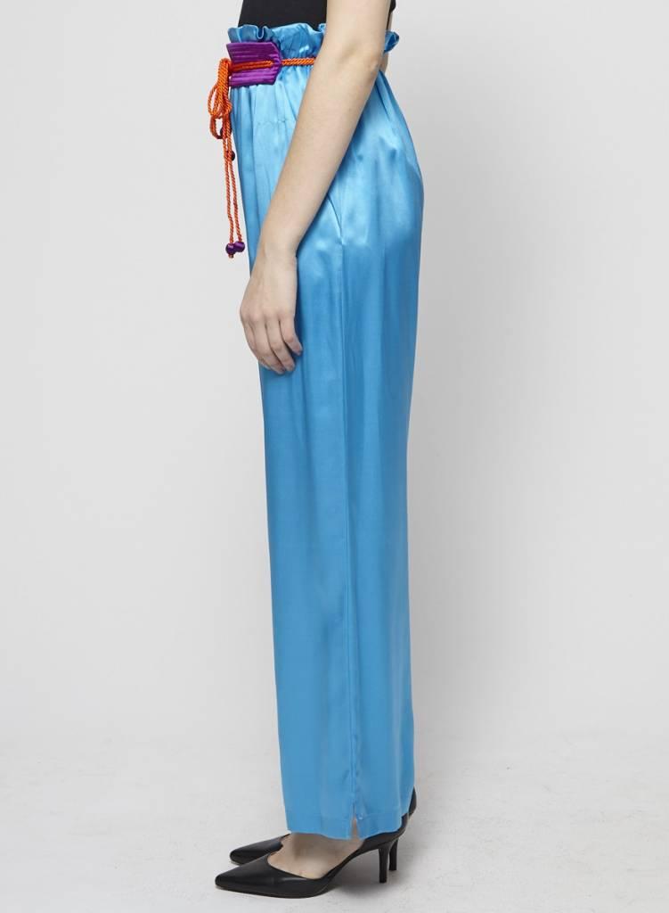 Philosophy di Alberta Ferretti BLUE SILK PANTS