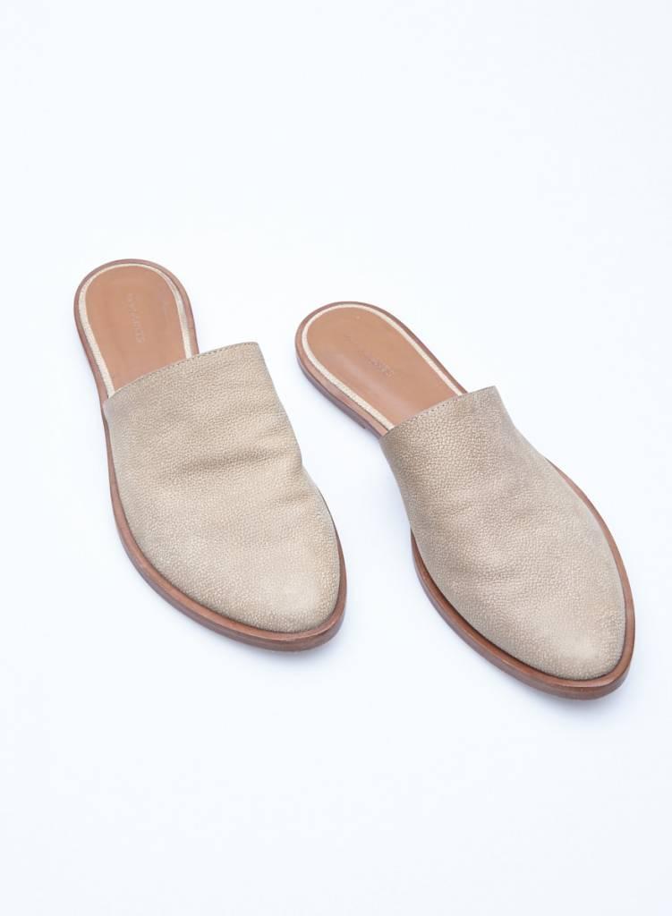 AllSaints Mules beiges en cuir