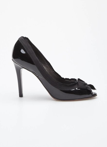 Lanvin BLACK PATENT LEATHER PUMPS  WITH BOW