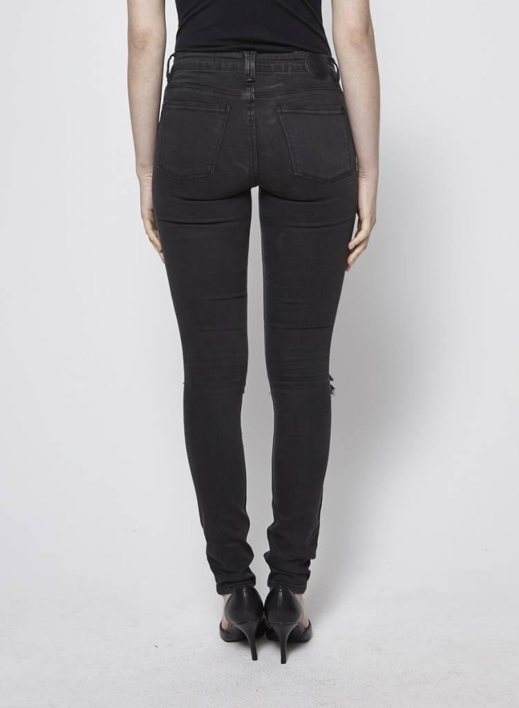RES Denim Jeans skinny noir délavé effet  déchiré aux genoux